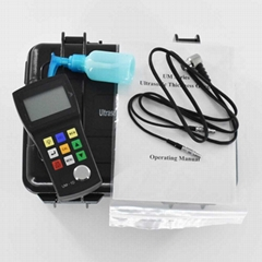 Portable Ultrasonic Thickness Gauge Tester Penetrating Coating UM-1D 0.8-300mm