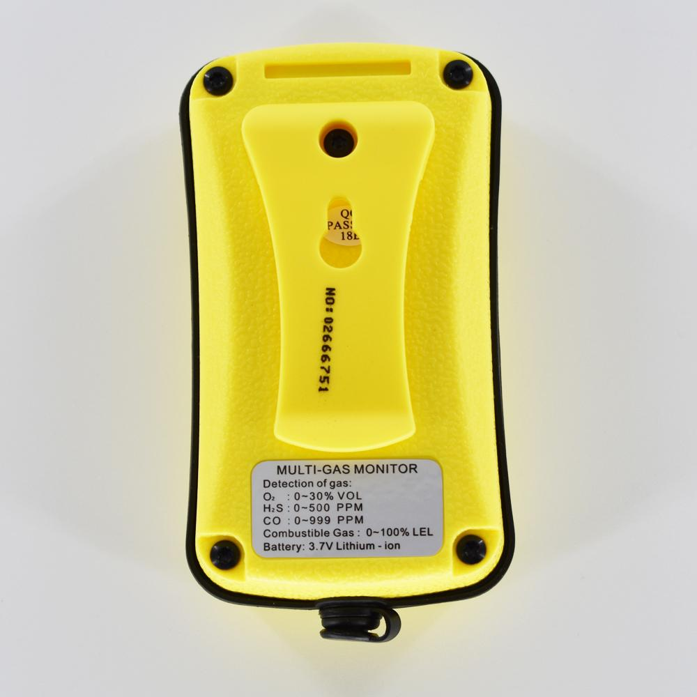 Multi Gas Monitor Detector 4 in 1 AS8900 CO O2 H2S Combustible Gas leakage 2