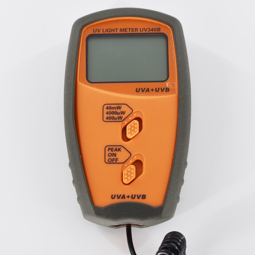 UV Light Meter UV Radiometers UV340B Measurable UVA and UVB 0-40mW/cm2 Peak hold 2