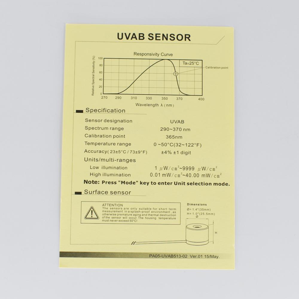 UV Light Meter SENTRY ST-513 UVAB measure ultraviolet radiation tester 7