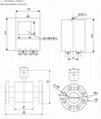 Split type Electromagnetic Flowmeter Flange connection High precision DN10-2000