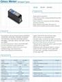 Multi-Angle Gloss Meter Tester 20/60/85 Degree 0.1-200GU Glossmeter Stone Tile 6