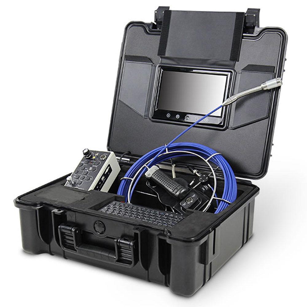 30M Fiberglass push rod sewer inspection camera for leak detection DVR recording