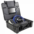 30M Fiberglass push rod sewer inspection camera for leak detection DVR recording