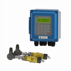 TUF-2000B Insertion Type Ultrasonic Flow Meter Wall Mounted RS485