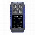4 in 1 Gas Detector BH-4S O2 EX H2S CO Four Alarm methods Gas leak Monitor