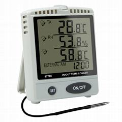 Thermo Hygrometer SD Card Data Logger AZ87799 Desktop Dual Temperature Recorder