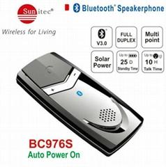 Solar Auto power on Bluetooth Handsfree Carkit Speakerphone