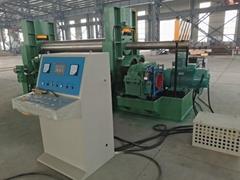Sheet steel plate rolling machine three roll