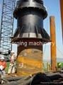 Onshore hydraulic piling hammer