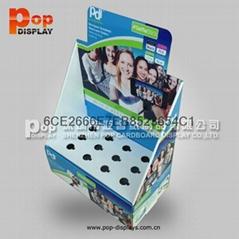 收银台促销纸展示盒PDQ座台