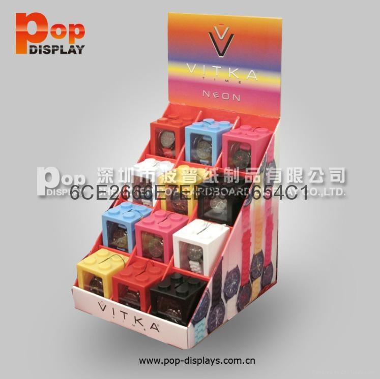 收銀台促銷紙展示盒PDQ座台 3