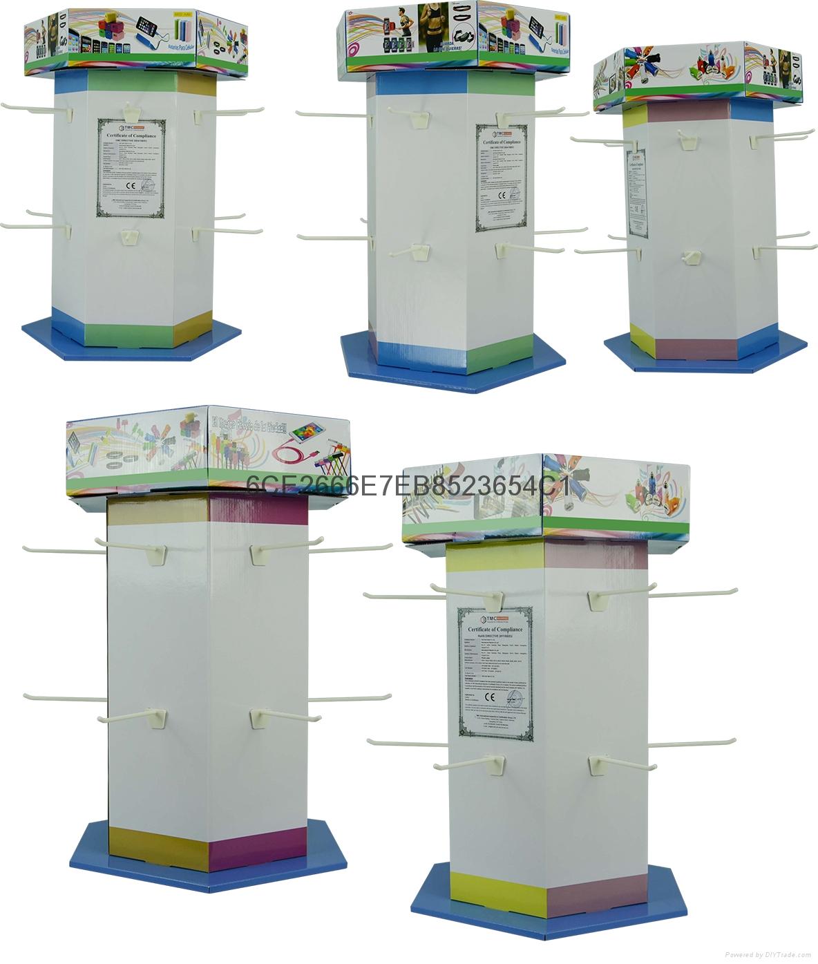 收銀台促銷紙展示盒PDQ座台 4