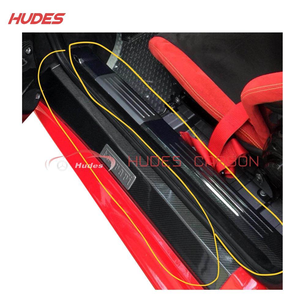 For Ferrari 430 Scuderia Door Sill Plate Carbon Fiber 4 Piece 1