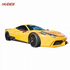 For Ferrari 458 Side Skirts Carbon
