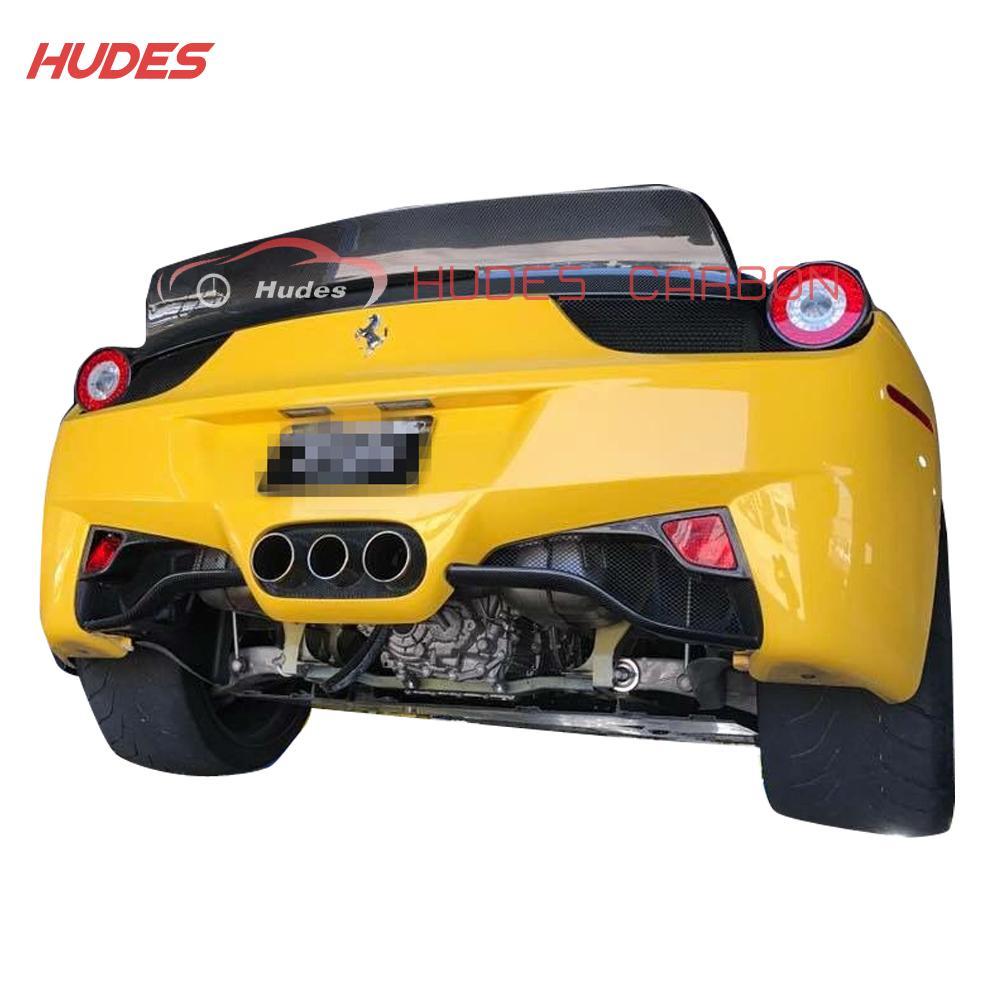 For Ferrari F458 Italia Carbon Fiber Rear Lower Bumper Grille 2