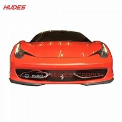 2009-2014 Carbon Front Bumper Lip Splitter For Ferrari 458