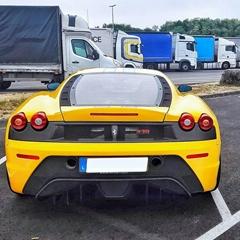 Ferrari 430 rear bumper panel trim