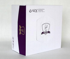 Decorative Corrugated Paper Cake Box with Handle
