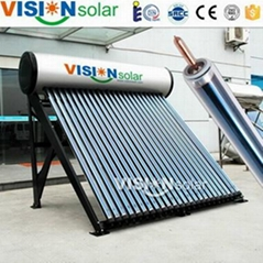 High quality heat pipe pressurized solar water heater wholesaler from China