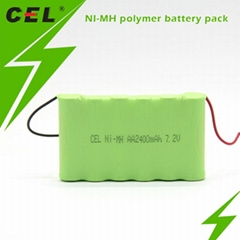 AA2400 NI-MH polymer battery for Emergency Light