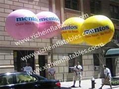 定製充氣飛艇飛機升空模型廣告氣模飄空氫氣球慶典活動開業道具