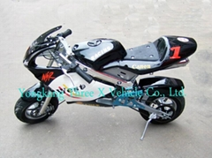 49cc pocket bike with shock absorber