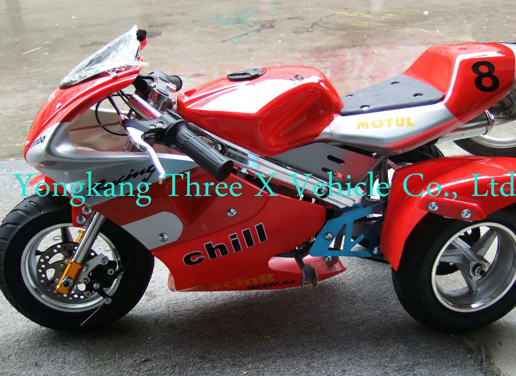 49cc three wheels pocket bike tx pb08 tx china. Black Bedroom Furniture Sets. Home Design Ideas