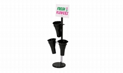 3 Stations Flower Stand Merchandisers