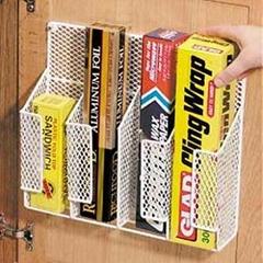 Cabinet Door Mount Wire Mesh Wrap Organizer