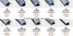 Easy assemble showcase aluminum designs material