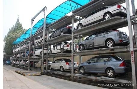 湖北智能化三層昇降橫移機械立體停車庫 1