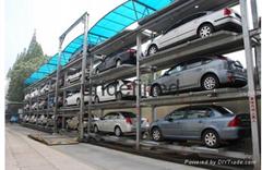 湖北智能化三層昇降橫移機械立體停車庫