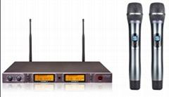 UHF DUAL CHANNEL WIRELESS MICROPHONE