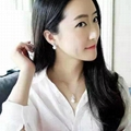 NEFFLY 2016 NEW ARRIVAL 925 SI  ER CROWN PEARL Noble lady EAR STUD FREE SHIPPING