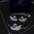 NEFFLY 2016 new arrival white swan 925 si  er Charm Bracelet free shipping
