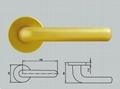 aluminum Door handle on rosette