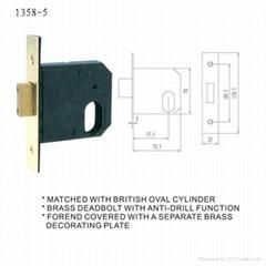 British/UK/Swiss door mortise lock body