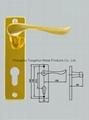 door handle on plate 4