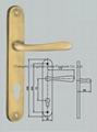 door handle on plate 2