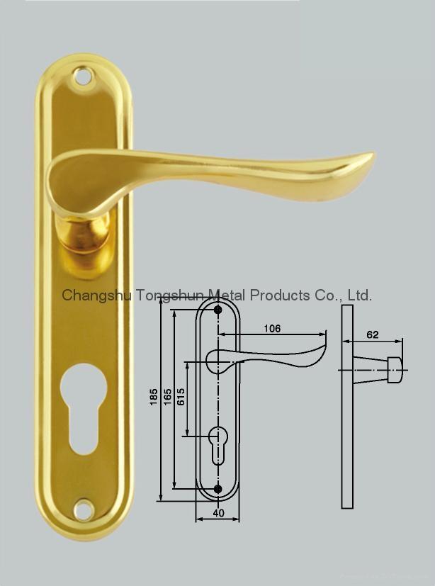 door handle on plate 1