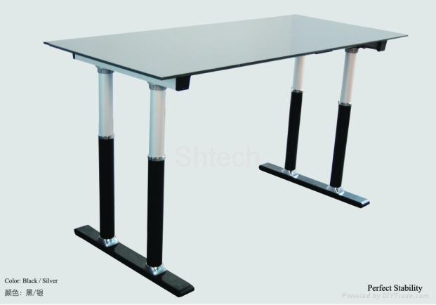 Four column Alu electric height adjustable desk frame - SH-3500 ...