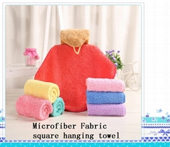 Microfiber Fabric square hanging towel2