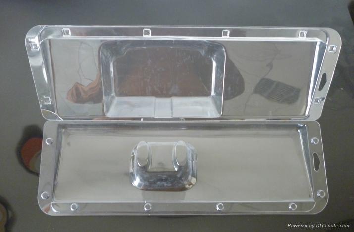高档吸塑PVC透明成人款泳镜热压吸塑罩 1