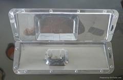高檔吸塑PVC透明成人款泳鏡熱壓吸塑罩