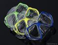 高档吸塑PVC透明成人款泳镜热压吸塑罩 3