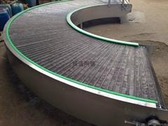 180 degree mesh belt type stainless steel turning conveyer