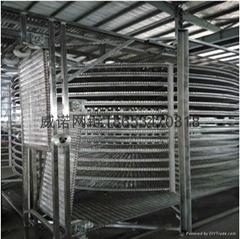Mesh belt type spiral quick freezing conveyer
