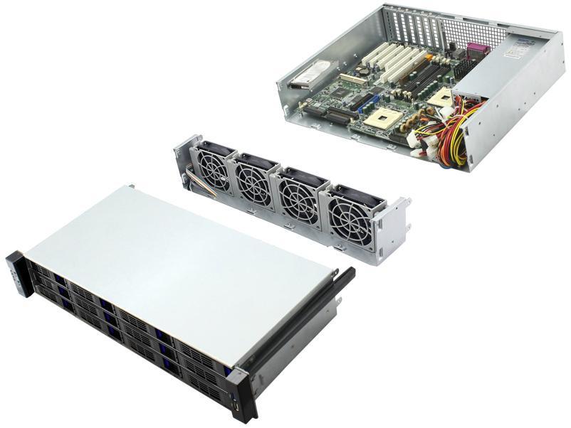 19 寸 机架式2u 12盘位服务器机箱 2
