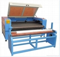 CS-1810 sofa cloth laser cutting machine with auto feeding table